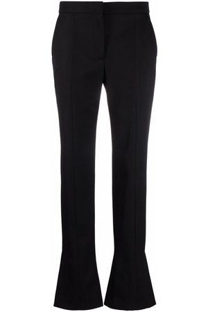 Alexander McQueen Women Formal Pants - Ankle-slit cigarette trousers