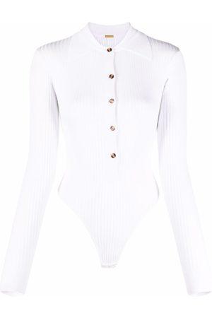 DODO BAR OR Ribbed-knit open-back bodysuit