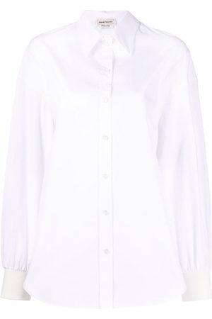 Alexander McQueen Women Long sleeves - Button-up long-sleeve shirt