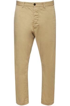 Dsquared2 Men Stretch Pants - Hockney Stretch Cotton Twill Pants