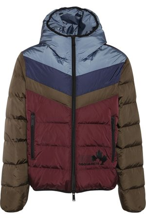 Dsquared2 Men Jackets - Color Block Nylon Down Jacket