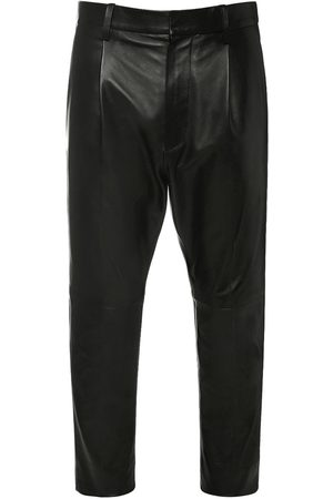Dsquared2 Pleated Aviator Leather Pants