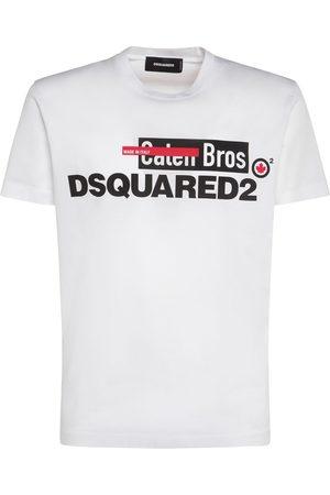 Dsquared2 Logo Print Cotton Jersey T-shirt