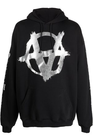 Vetements Double Anarchy logo-print hoodie