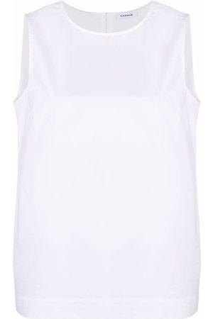 P.a.r.o.s.h. Women Tank Tops - Cotton sleeveless blouse