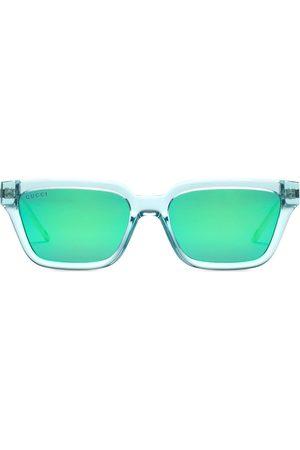 Gucci Men Square - Colour block square-frame sunglasses