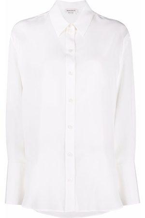 Alexander McQueen Long-sleeve silk shirt