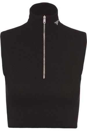 Prada Women Tank Tops - Cropped sleeveless top