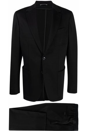 CANALI Men Suits - Wool-jersey single-breasted suit