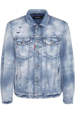 Dsquared2 Distressed Cotton Denim Jacket