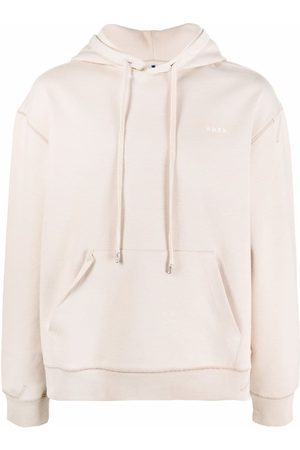 Ader Error Hoodies - Hooded jersey sweatshirt - Neutrals