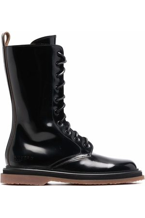 Buttero Women Lace-up Boots - Polished-leather lace-up boots