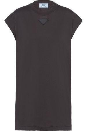 Prada Logo-patch sleeveless top