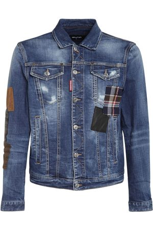Dsquared2 Men Denim Jackets - Patches Cotton Denim Jacket