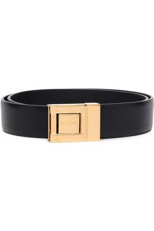 Saint Laurent Logo-engraved buckle belt