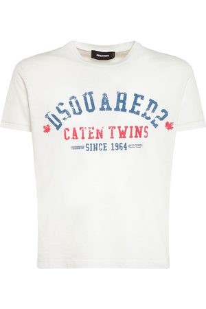 Dsquared2 Men T-shirts - Logo Print Cotton Jersey T-shirt