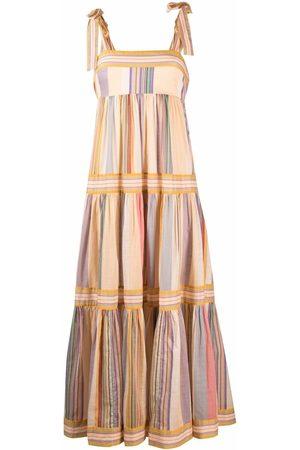 ZIMMERMANN Stripe-print tiered maxi dress