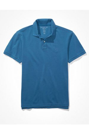American Eagle Outfitters Men Polo Shirts - Super Soft Icon Pique Polo Shirt Men's XS