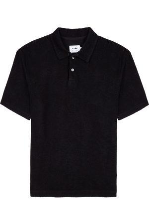 NN.07 Alfons black terrycloth polo shirt