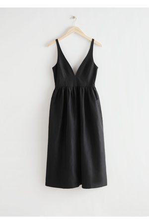 & OTHER STORIES Voluminous Scoop Neck Midi Dress