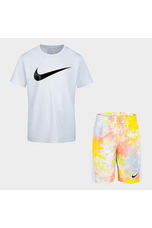 Nike Girls' Little Kids' Sportswear T-Shirt and Tie-Dye Shorts Set Size 4 Knit