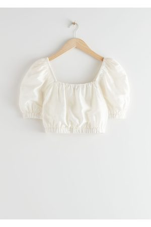 & OTHER STORIES Puff Sleeve Crop Top