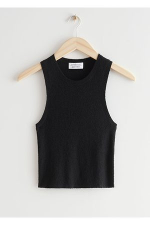 & OTHER STORIES Fitted Cropped Tank Top