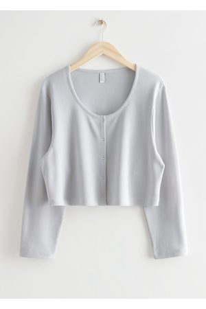 & OTHER STORIES Boxy Button Up Top - Grey