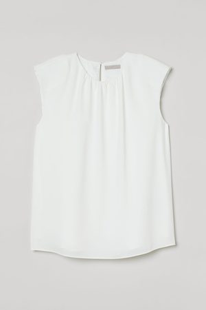 H&M Sleeveless Shoulder-pad Blouse