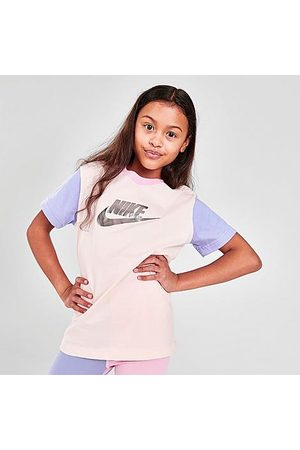 Nike Girls' Sportswear Colorblock T-Shirt in / Size Small 100% Cotton/Knit