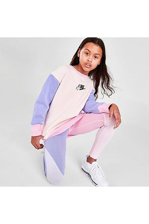 Nike Girls' Sportswear Colorblock Oversized Sweatshirt in / Size Small Cotton/Polyester/Spandex