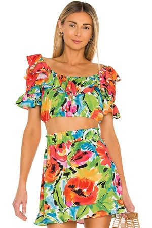 Show Me Your Mumu Jessie Top in Red,Green.
