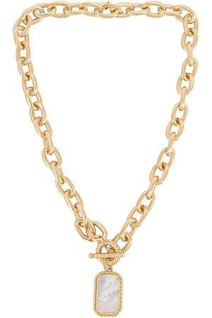 Ettika Pendant Necklace in Metallic .