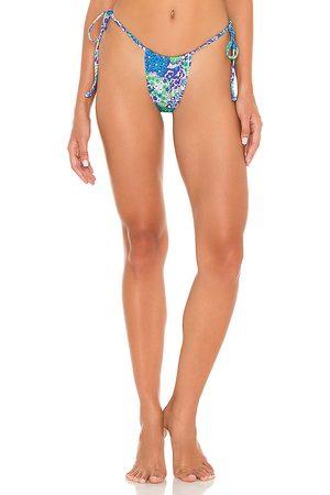 Frankies Bikinis Tia Bottom in Blue.
