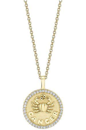 Anita Women Necklaces - 18k Small Cancer Zodiac Pendant