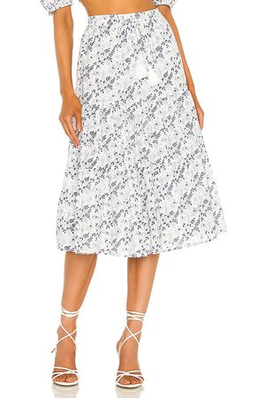 Cleobella Chelsea Midi Skirt in White.