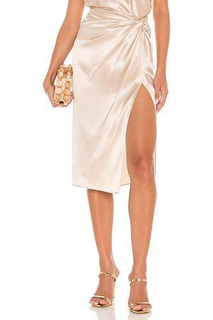 Amanda Uprichard X REVOLVE Ansley Skirt in Metallic Neutral.