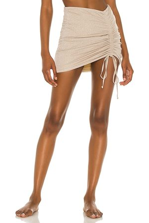 lovewave The Sandra Mini Skirt in Metallic .