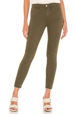 L'Agence Margot High Rise Skinny Pant in Olive.