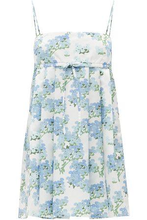 Bernadette Jules Hortensia-print taffeta mini dress