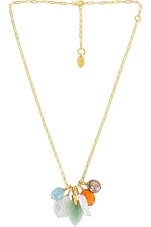 Lizzie Fortunato Serpentine Charm Necklace in Metallic Gold.