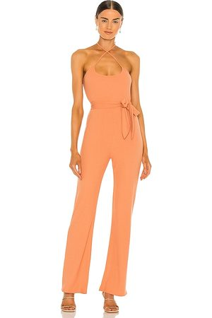 Lovers + Friends Langley Jumpsuit in Peach.