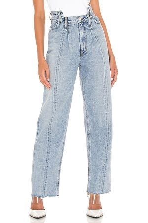 AGOLDE Pieced Angled Jean in Blue.