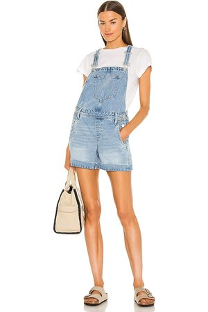 BLANK NYC Overalls in Blue.