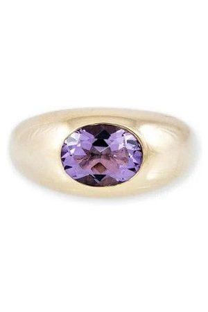 JACQUIE AICHE Medium Amethyst Dome Ring