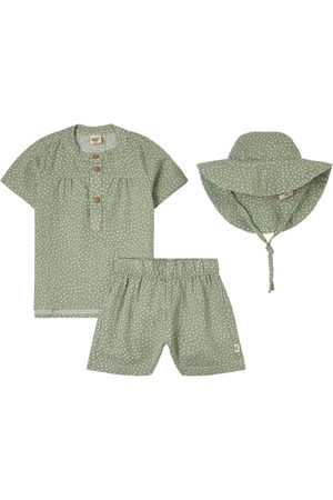 Buddy & Hope Gift Set - Shirt S/S + Shorts + Sun Hat w Dots - Unisex - 62/68 cm - - Outfit sets