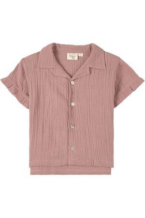 Flöss Girls Blouses - Kids - Rob Frill Shirt Dusty Rose - Girl - 116 cm (5-6 Years) - - Blouses