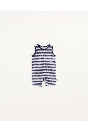 Splendid Boys Onesies - Infants Infant Boy Splash Stripe Onesie True Navy - Size 0m-3m