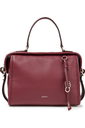 DKNY Woman Marcy Medium Pebbled-leather Tote Burgundy Size