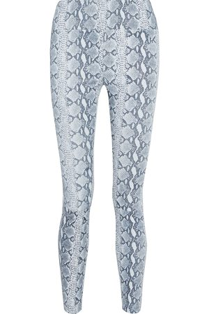SPRWMN Woman Snake-effect Stretch-leather Leggings Animal Print Size M